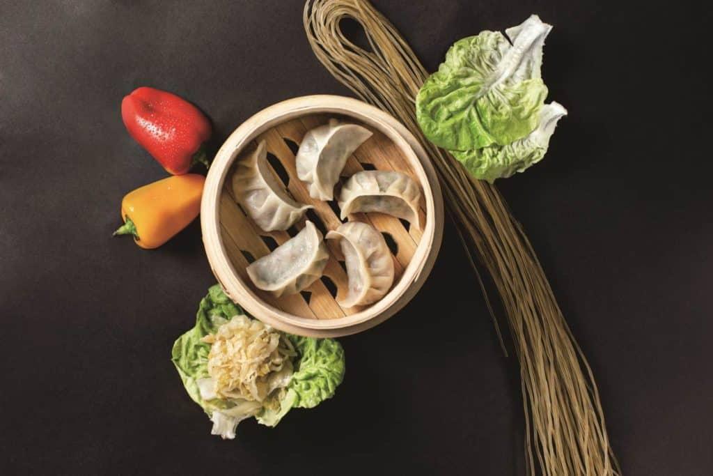 中国礼的乐活纯素饺子